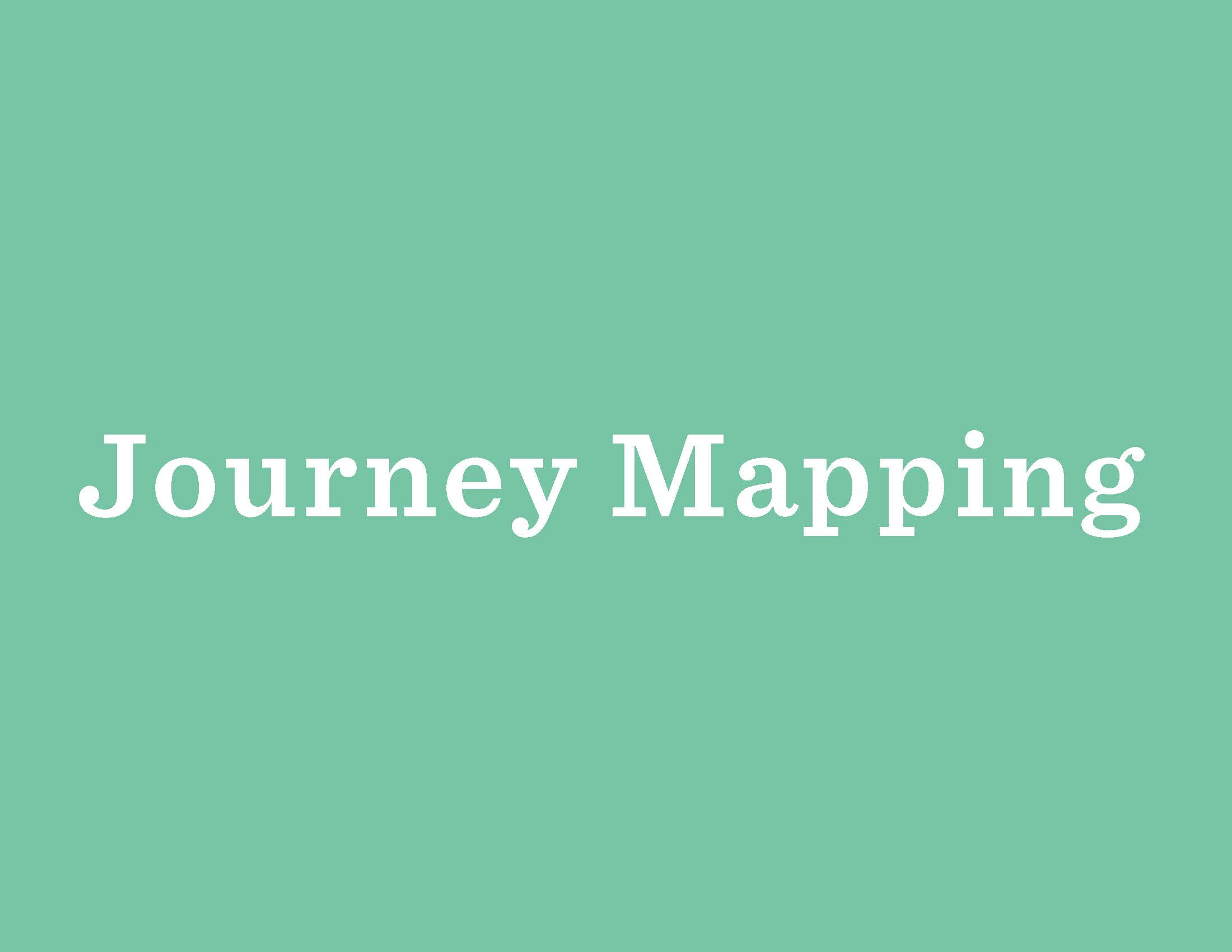 In the Design Thinking process,  Journey Mapping  can be a useful tool for helping you move from generating ideas in the inspiration phase to finalizing a concrete design plan.  Here  you can read an example of how Journey Mapping was applied in Brazilian Libraries.