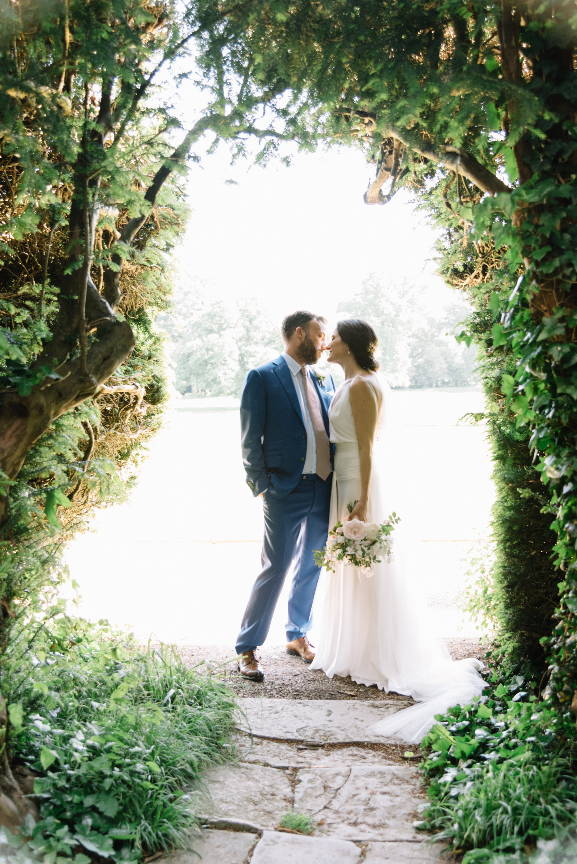 Luxury Wedding Planner UK | Jennifer & Timothy's English Country Manor Wedding | Soft Pink Pale Blue White and Silver Toned Green Neutral Tones American Bride North Cadbury Court | Nicole Colwell Photography  0115.jpg