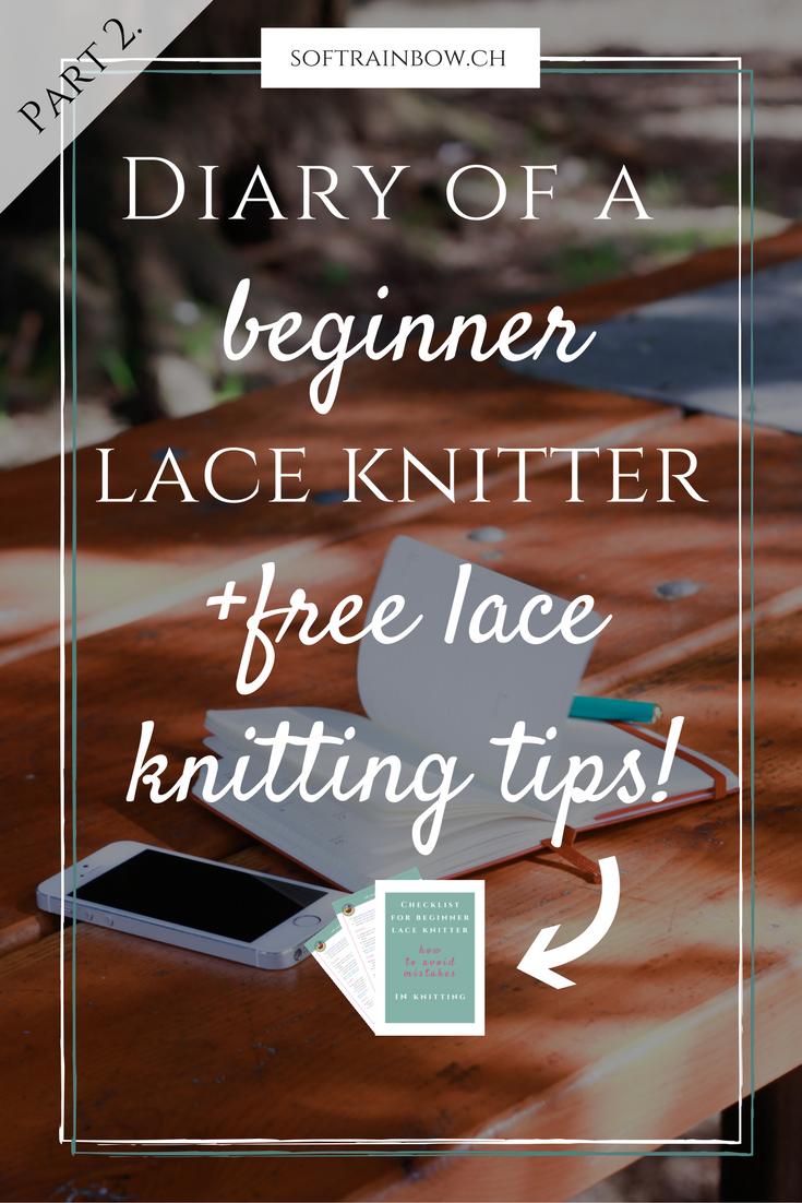 beginner lace knitter   knitting pattern