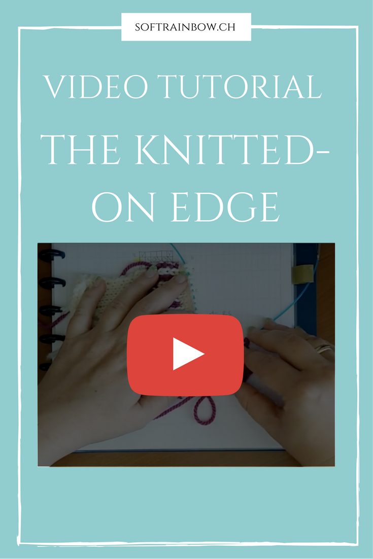 Knitting video tutorial - knitted on edge