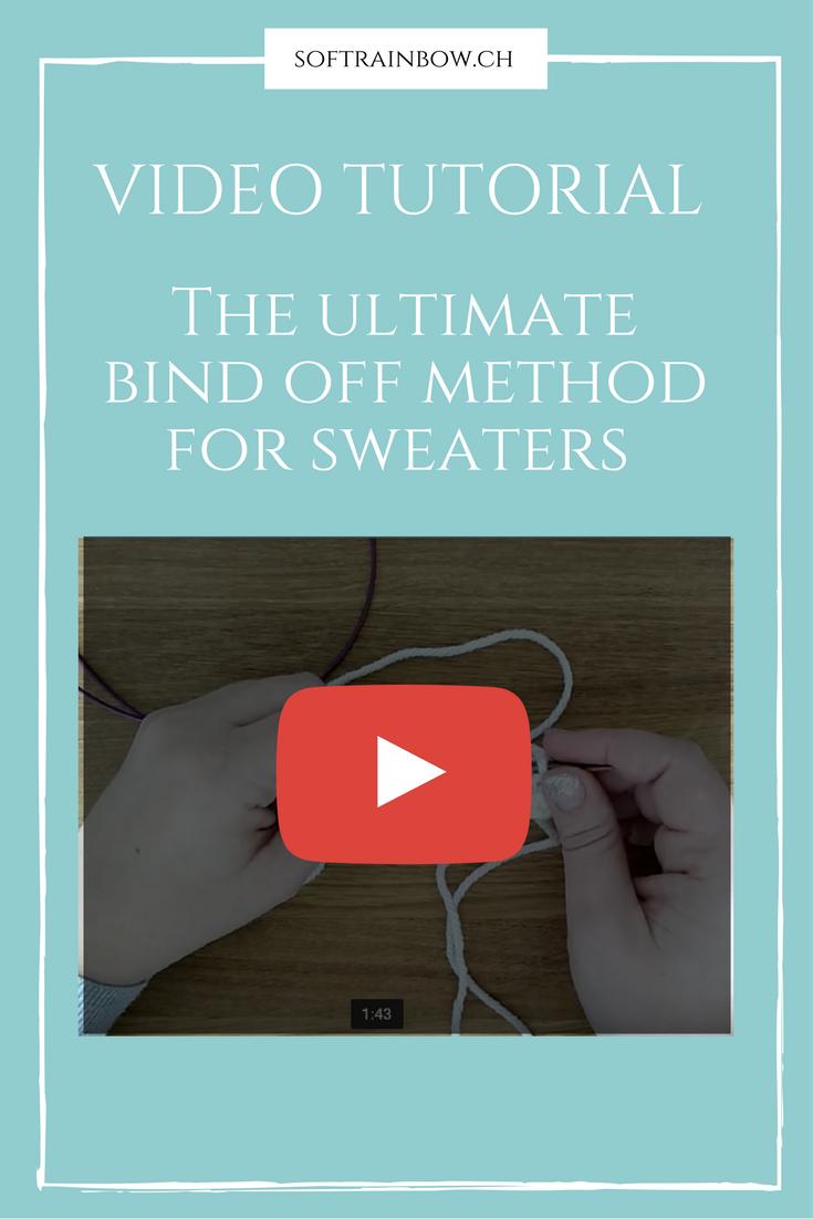 Knitting video tutorial - sweater bind off