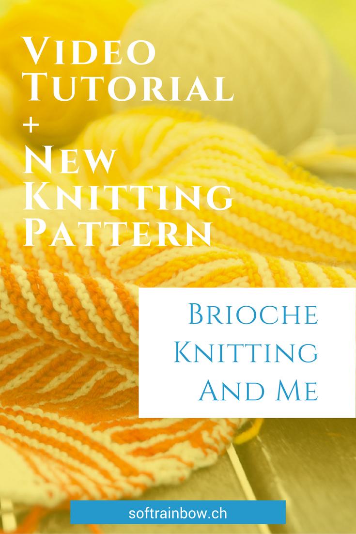 Brioche knitting - why I love? Working on a shawl knitting pattern with brioche stitch and stripes. New shawl knitting pattern release: Tourlaville.