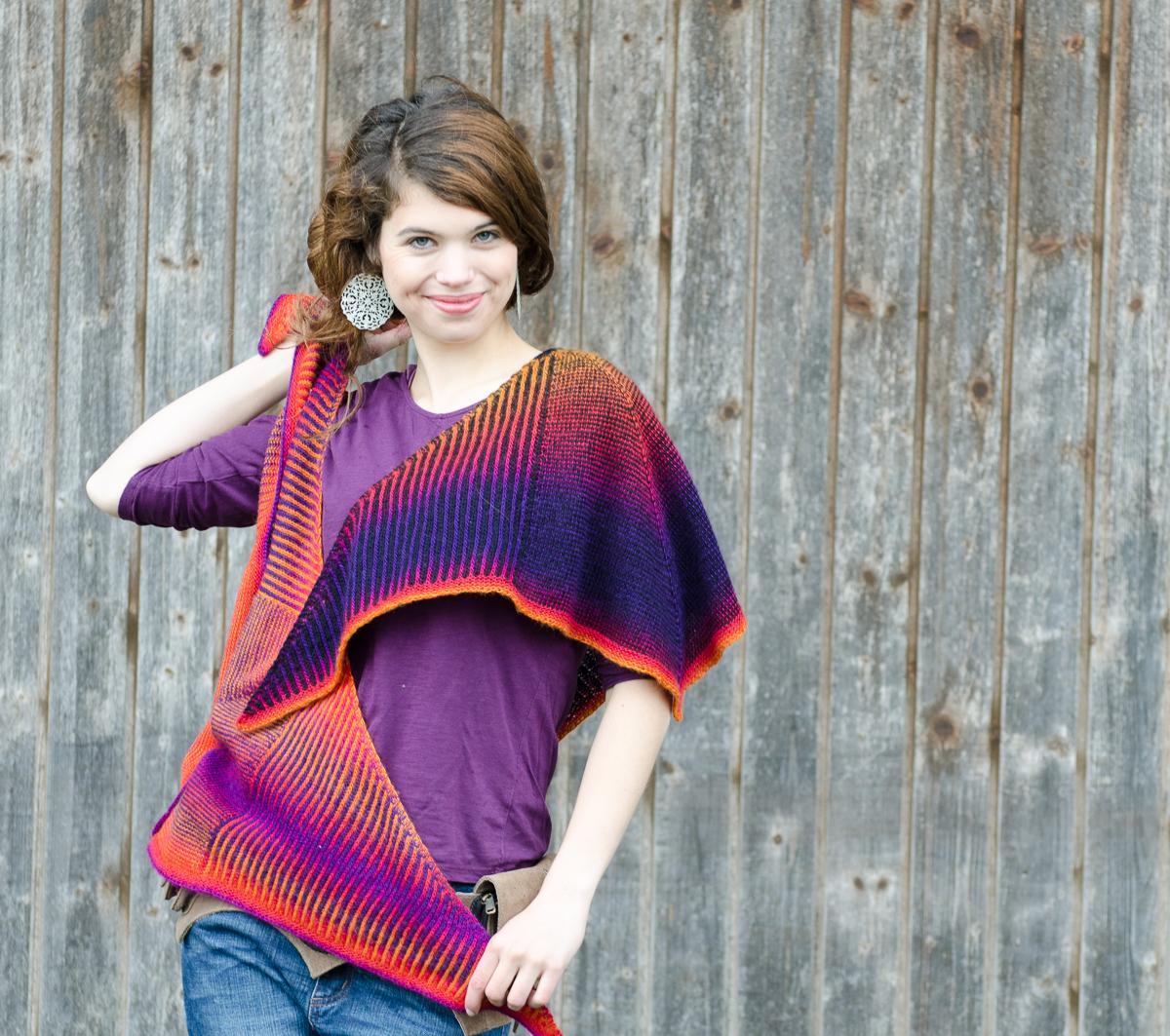 Autumn knitting patterns - Tourlaville Shawl