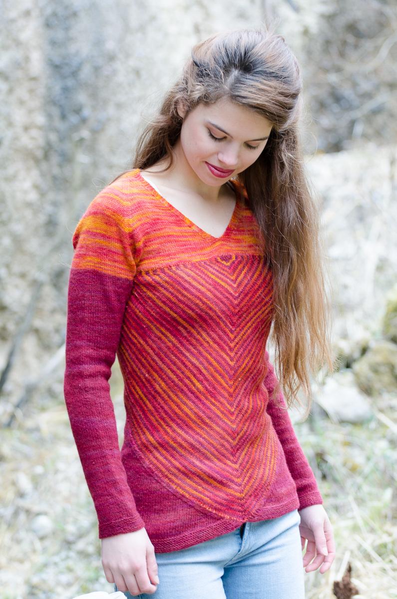 Autumn knitting patterns - Victoria Sweater