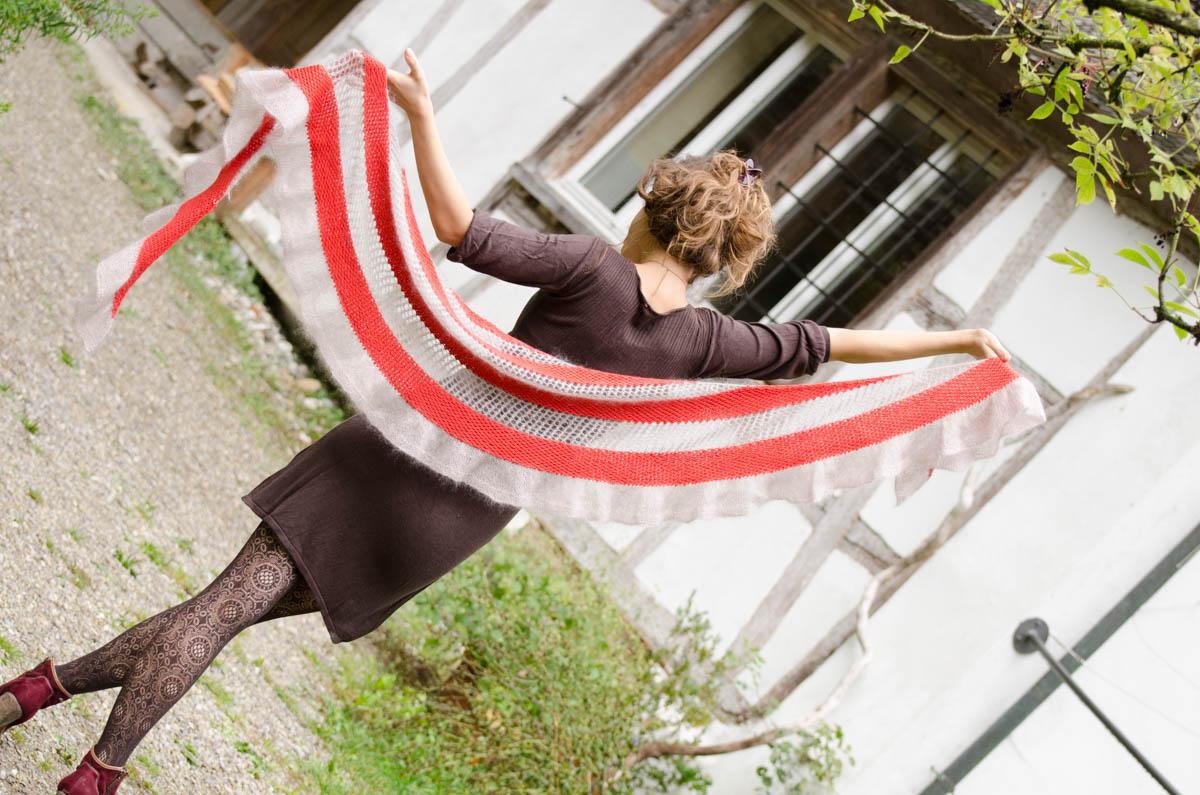Autumn knitting patterns - Elveden Scarf
