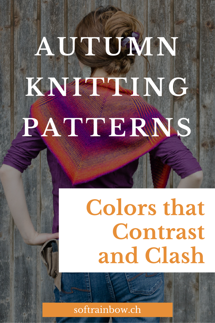 Autumn knitting patterns - colors that contrast and crush