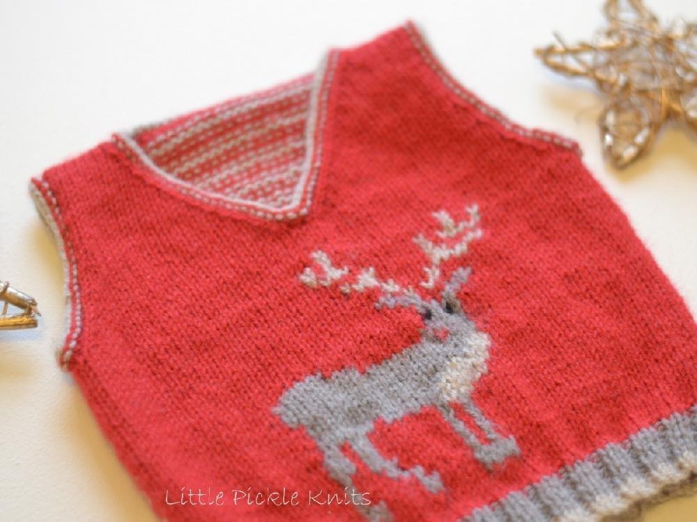 Little Reindeer Tank  by   Little Pickle Knits