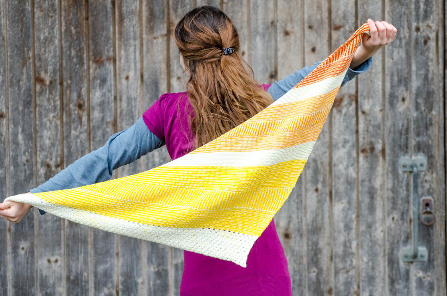 Testing :  Shawl with brioche and stripes