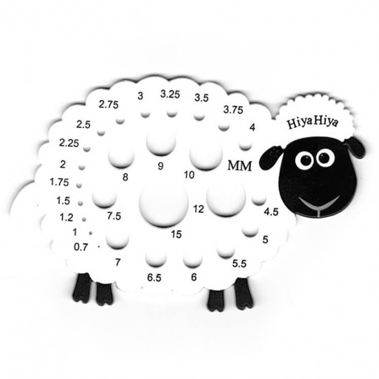 15 Christmas Gift Ideas For Knitters - needle gauge sheep