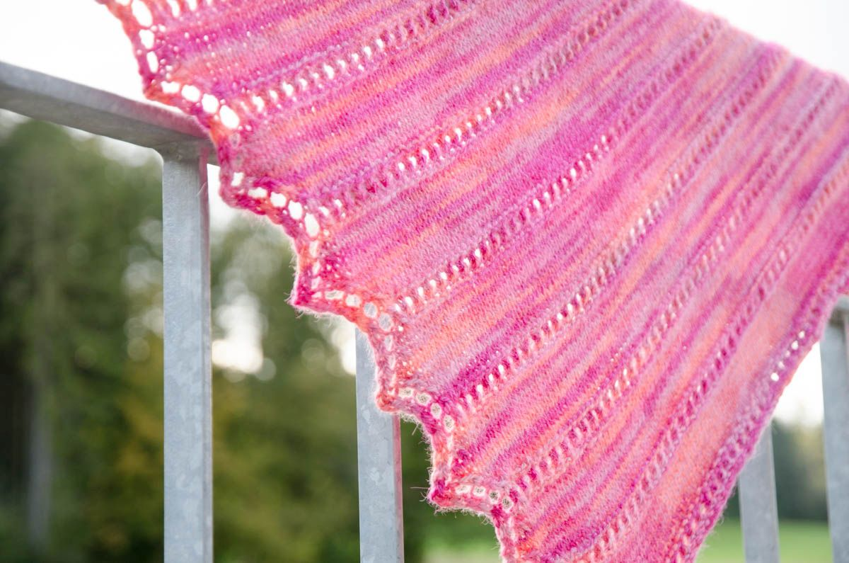 Candied Apples Shawl