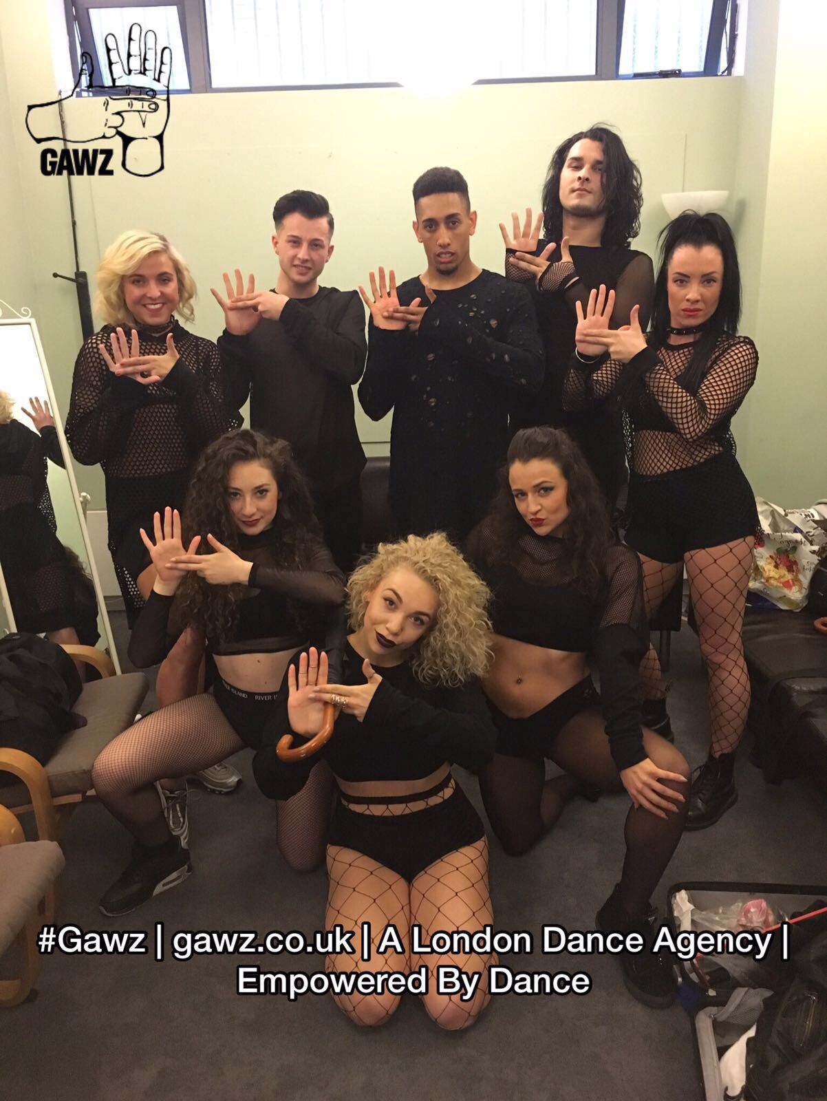 Our talented Gawz dancers posing backstage at the DGC Dance Show 11!