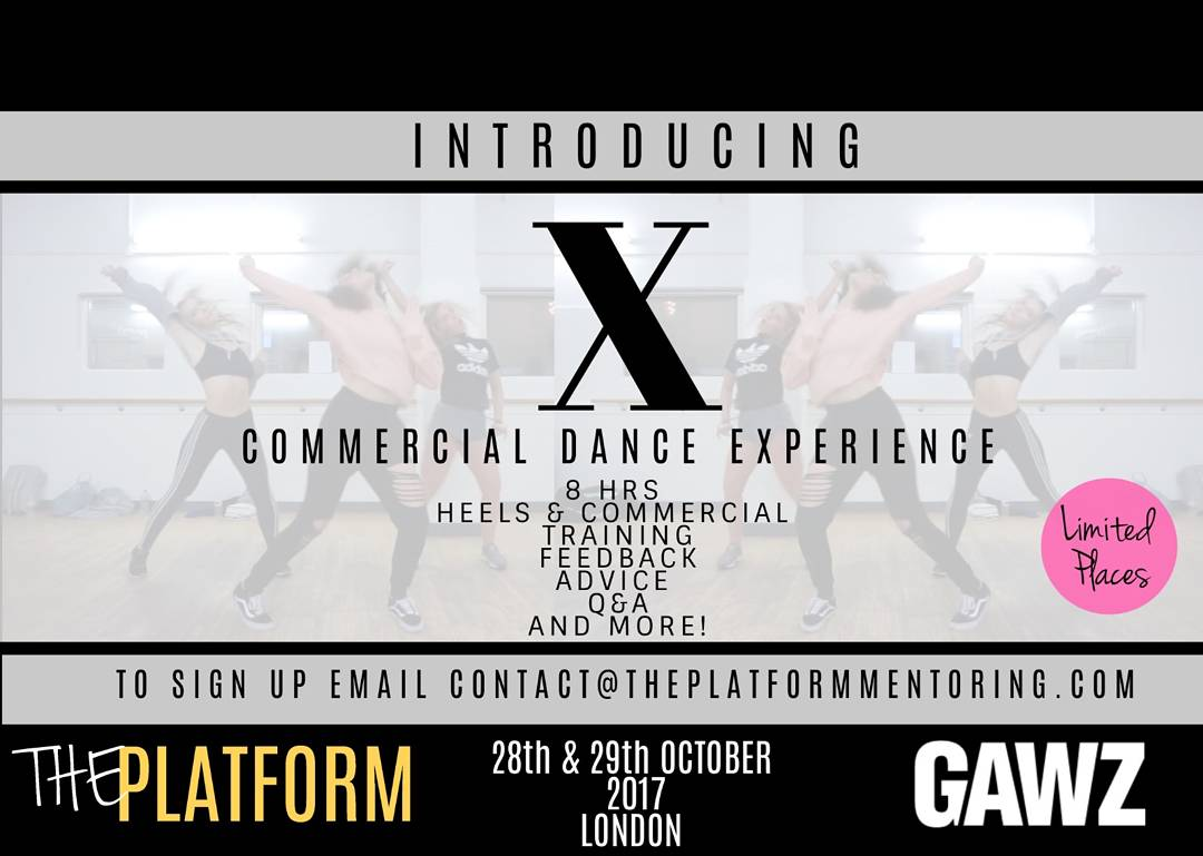 Sign up to this exclusive one-off commercial dance experience! The Platform + Gawz.