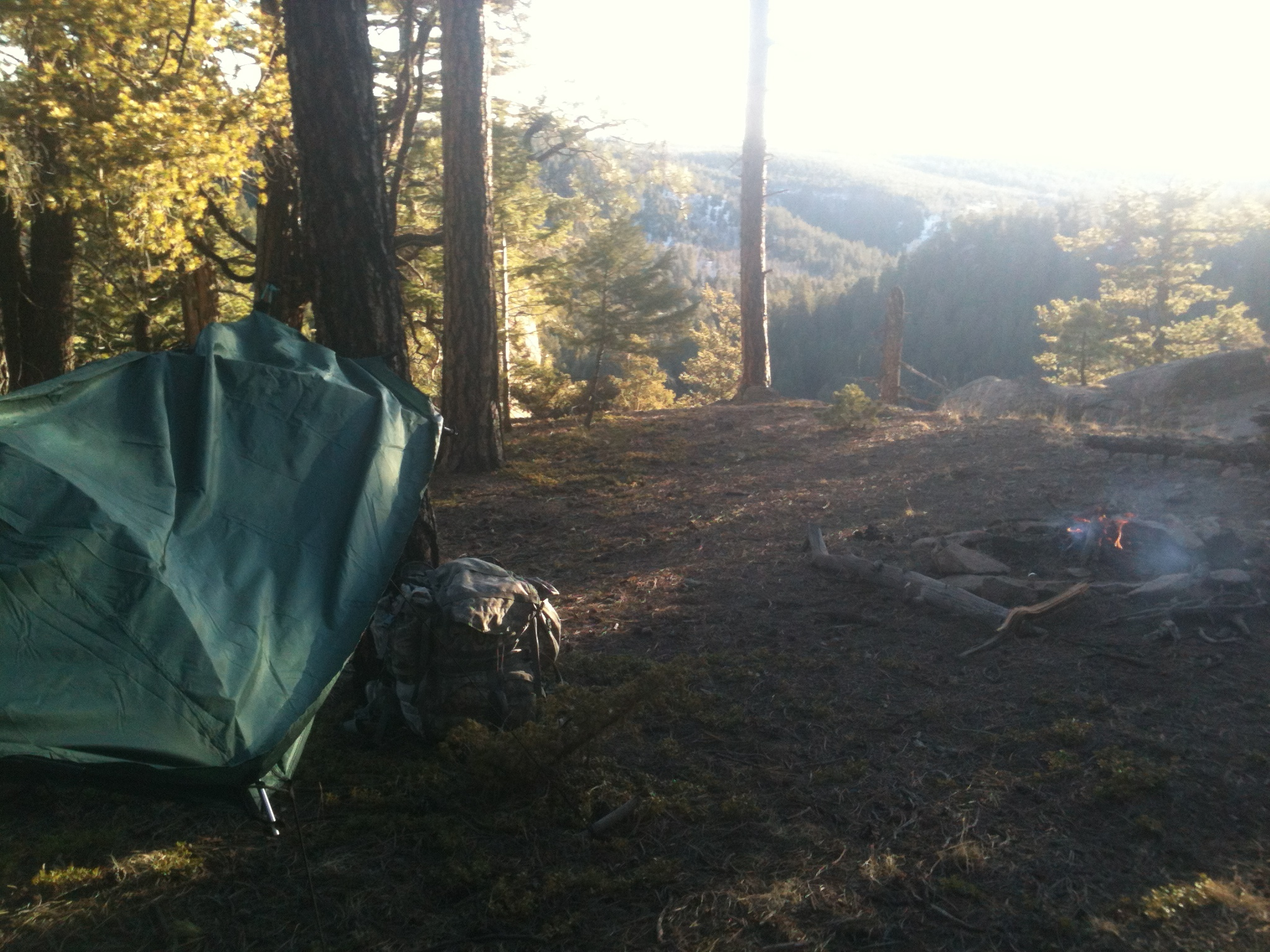 Jemez mountain turkey hunt campsite
