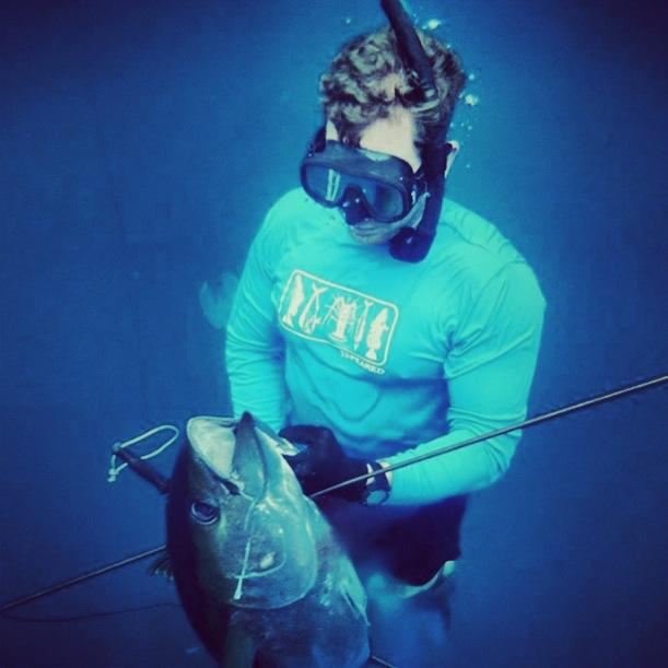 Spearing yellowfin