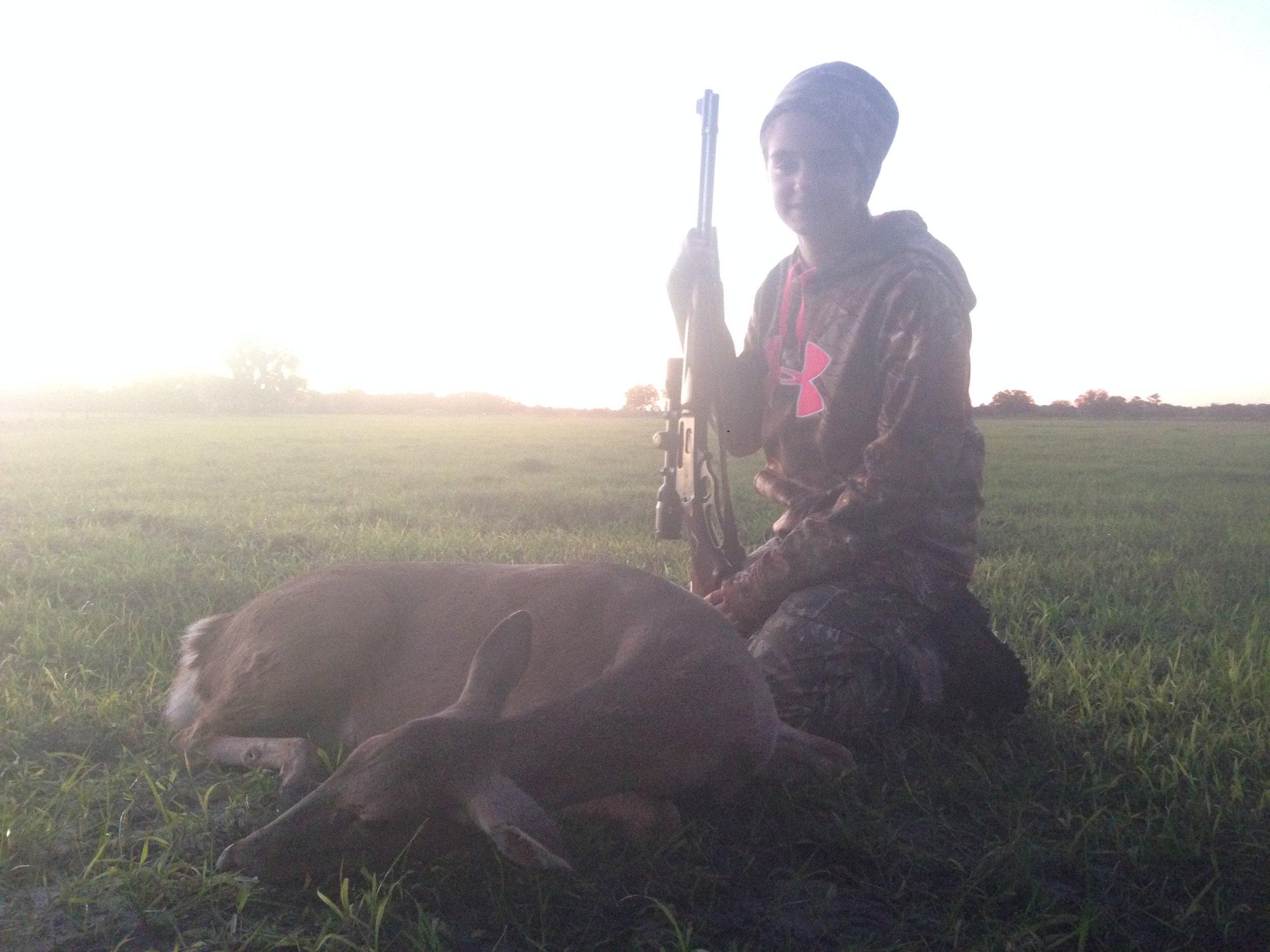 Amanda's first deer