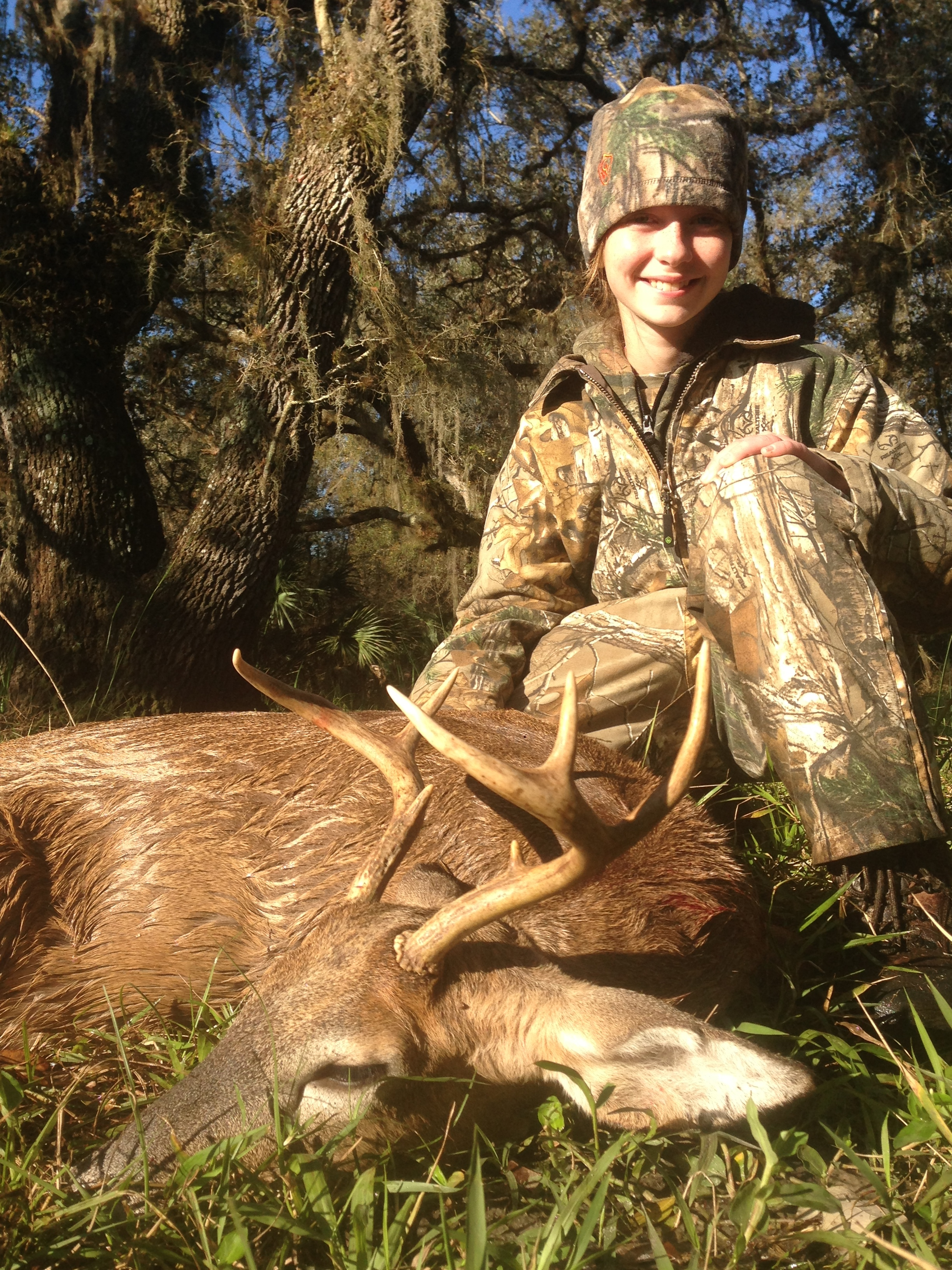 Kaley's first deer