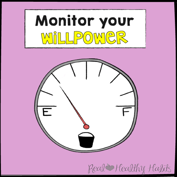 Monitor Your Willpower | The Willpower Solution | realhealthyhabits.com
