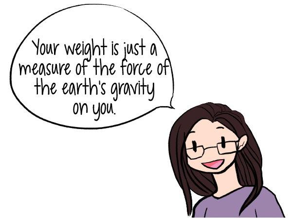 Something to remember if your weight is getting you down... Your weight is just a measure of the pull of the earth's gravity on you. | Use the Scale | www.realhealthyhabits.com