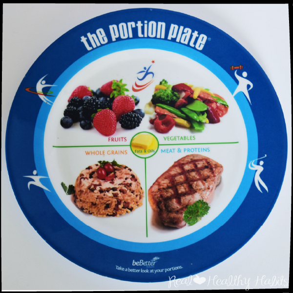 Use a Meal Template with 1/4 your plate veggies, 1/4 plate Fruit, 1/4 plate protein, and 1/4 plate carbs to Eat Healthy the Easy Way | Make Losing Weight Simple with this Easy Formula | www.realhealthyhabits.com