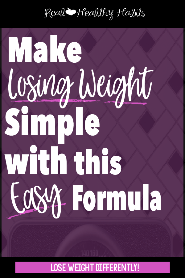 Use a Meal Template with 1/2 your plate veggies, 1/4 plate protein, and 1/4 plate carbs to lose weight and cut carbs the easy way| Make Losing Weight Simple with this Easy Formula | www.realhealthyhabits.com