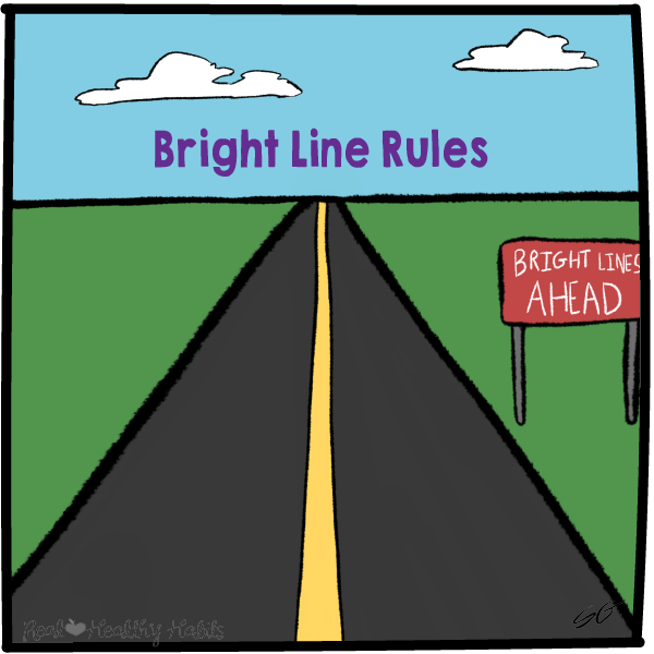 Make a Bright Line Rule to Get control of the cravings centers of your brain with these 6 strategies. | Stop the Willpower Battles with Super Tempting Food | www.realhealthyhabits.com