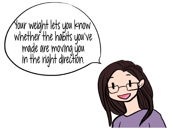 Your weight lets you know whether the habits you've made are moving you in the right direction | Create a Life-Changing Goal for Motivated Weight Loss | www.realhealthyhabits.com