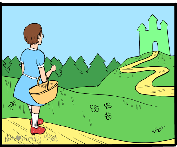 On the yellow brick road of weight loss, you find yourselves headed towards the Wizard of Willpower. Maybe he'll grant your wish for more willpower. | Understand how willpower really works | www.realhealthyhabits.com