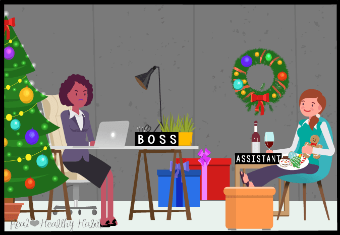 The sub-conscious (Assistant) part of your brain will want to party at the holidays while your Boss Brain is busy. You can avoid gaining weight at the holidays by crafting a holiday strategy. Check out these three super helpful tips! | Enjoy Your Holidays and Avoid Holiday Weight Gain Regret | www.realhealthyhabits.com
