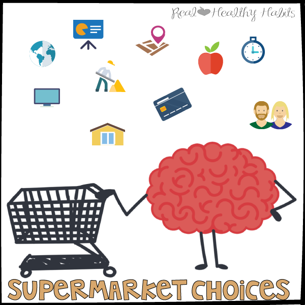 Influences on Your Brain for Food—Supermarket Choices | How to Nix Zombie Eating the Easy Way | www.realhealthyhabits.com