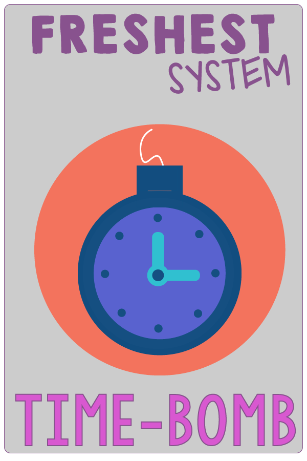 T is for Time-Bomb. SMART Goals Aren't Enough. You Need Systems to Finally Reach Your Health and Weight Loss Goals. And, Those Systems Need to Be the FRESHEST. | Systems Are Where It's At for Health and Weight Loss Goals | www.realhealthyhabits.com