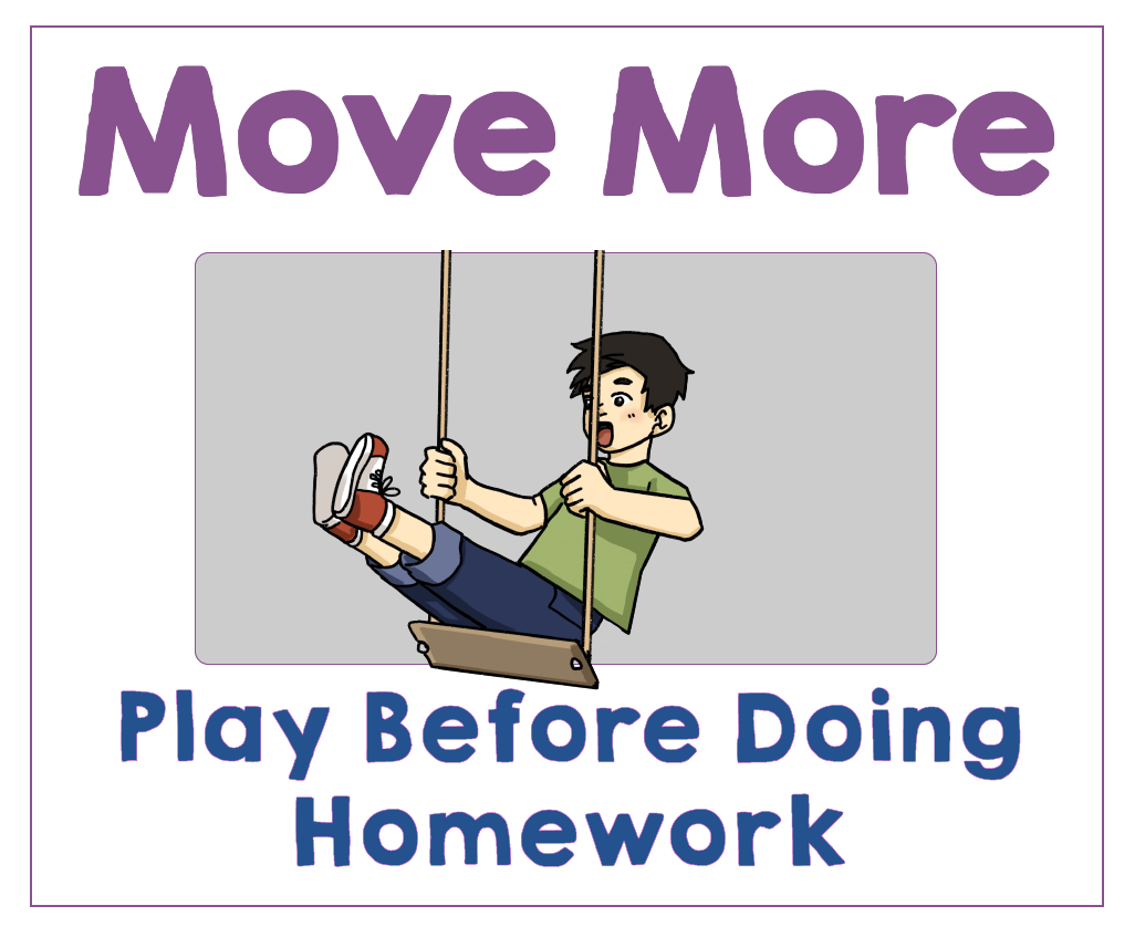 #3 Play Before Doing Homework. Health Family Habits the Pain-free way.   Get Your Kids Healthy with These Easy- Peasy Habits   Real Healthy Habits   www.realhealthyhabits.com