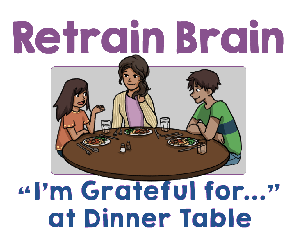 #8 Make a Gratitude Habit at the Dinner Table. Health Family Habits the Pain-free way.   Get Your Kids Healthy with These Easy- Peasy Habits   Real Healthy Habits   www.realhealthyhabits.com