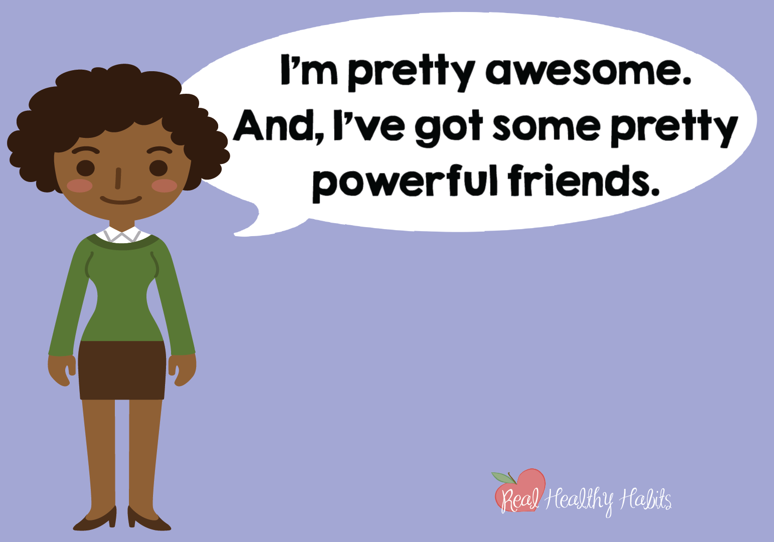 To always get a challenge response to stress, remind your brain how awesome you are and how you have people in your life who support you. | How to Make Stress Your Superpower: Always Get the Good Kind of Stress | www.realhealthyhabits.com