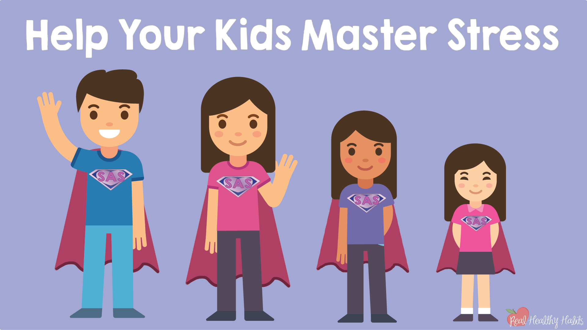 You don't have to save your kids from stress if you teach them how to QuSAP! | How to Make Stress Your Superpower: Transform Your Stress with This Easy One Minute Habit | www.realhealthyhabits.com