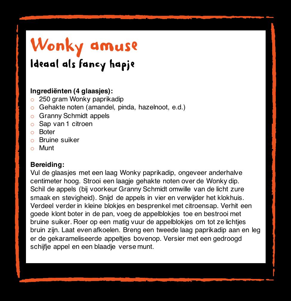 recept Wonky amuse