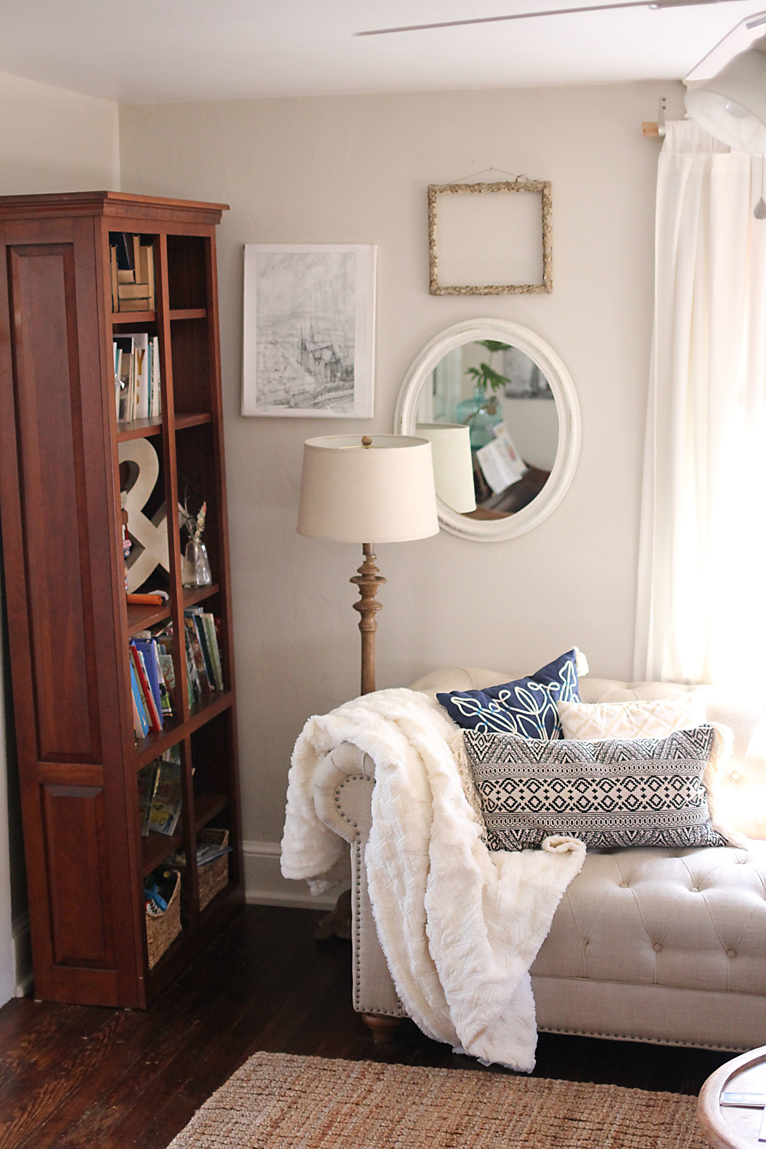 Textures help add warmth to this living space