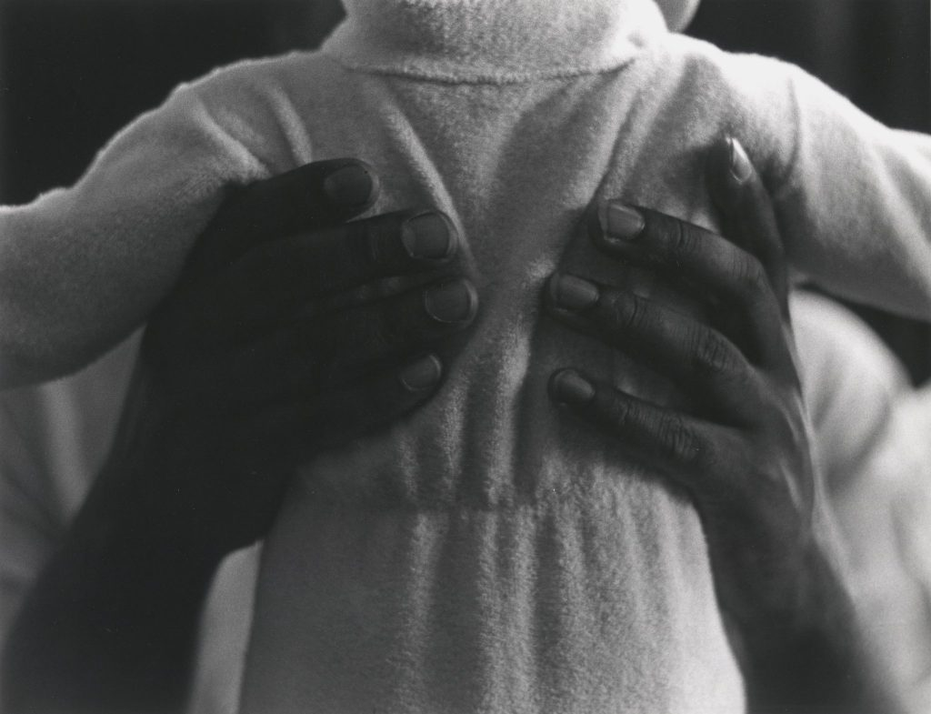 Roy DeCarava,  Bill and Son , 1966, printed 1982. Material: Gelatin silver print. Saint Louis Art Museum.