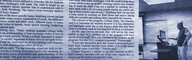 STUDENT STORY: CAMPUS NEWSPAPER