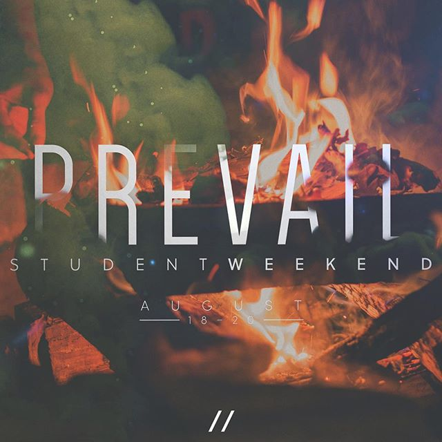 #PrevailStudentWeekend is in full swing! Join us again tonight for #FireSideWorship, a keynote from @nauvnauv, and a word from @cdhayes9715!