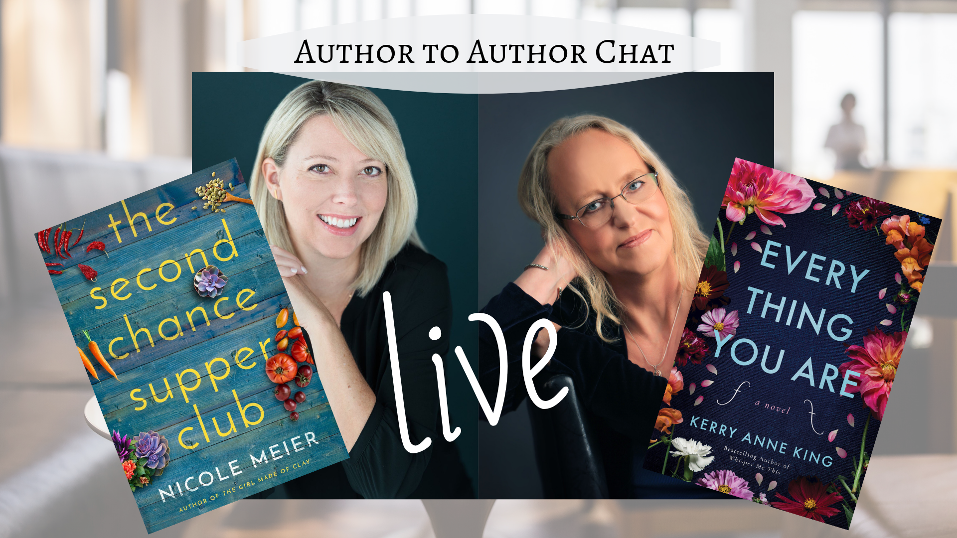 Join us for a fun conversation about writing and our new releases!