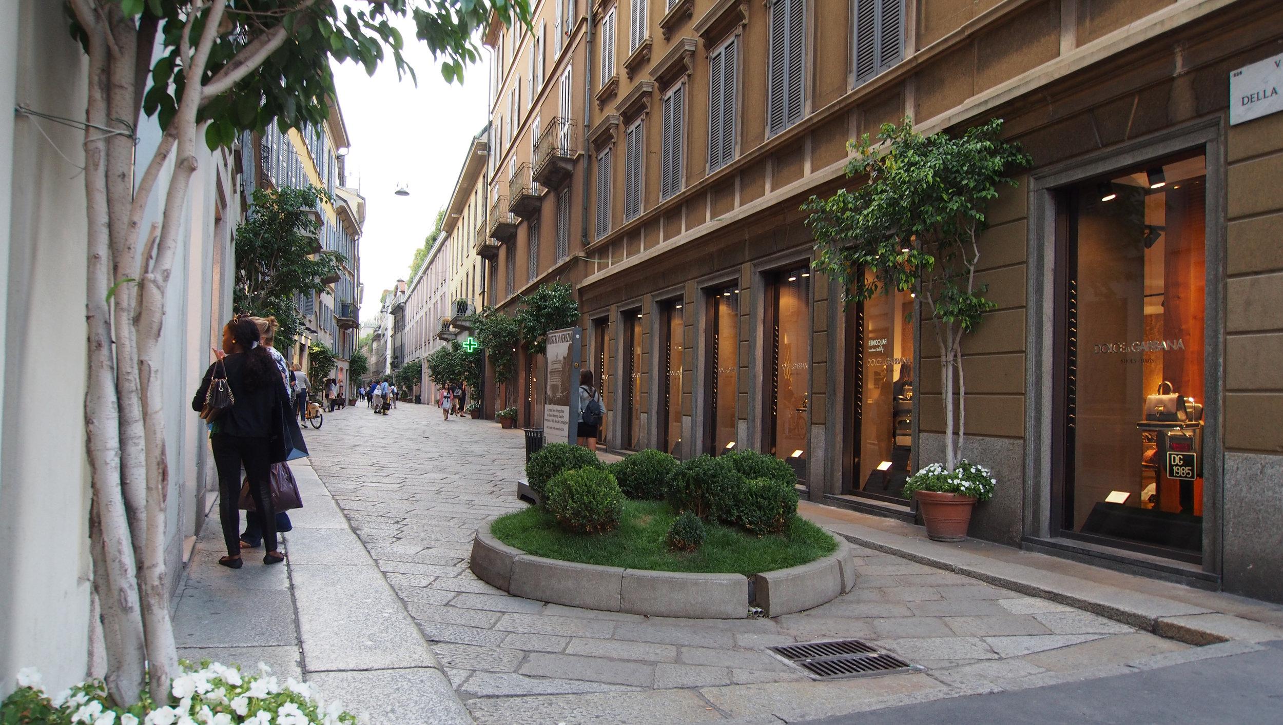 Muotikatu Via della Spiga