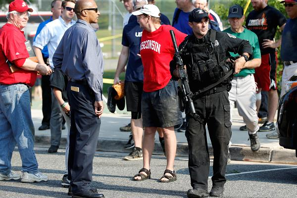 Police investigate a shooting scene after a gunman opened fire on Republican members of Congress   CNBC.com