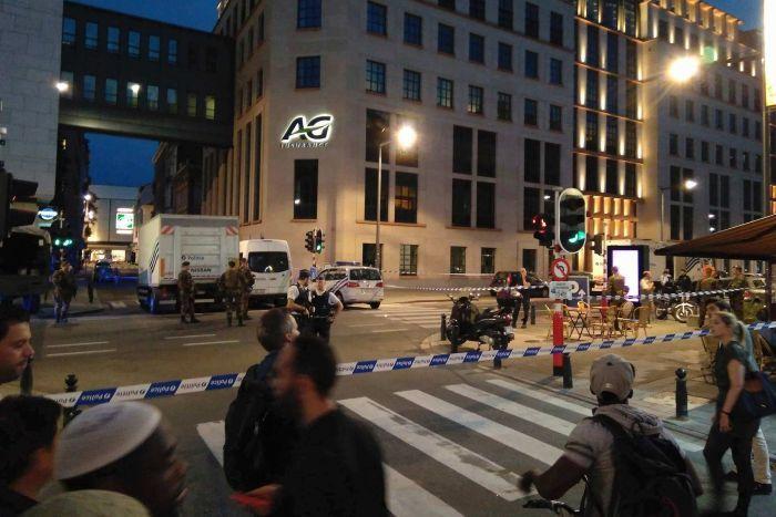 PHOTO: Police are treating the attack as an attempted terrorist murder.(AP: Thomas Da Silva Rosa via Twitter)