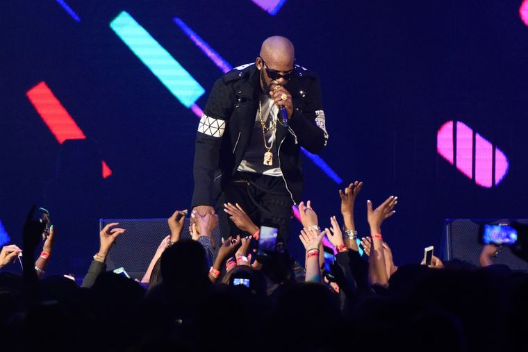 R. Kelly, performing at Allstate Arena in Chicago on May 7, 2016. Daniel Boczarski/Getty Images