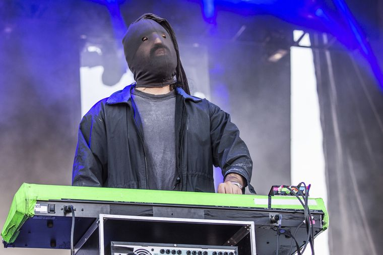 Ethan Kath of Crystal Castles, performing at the Austin City Limits Music Festival on Oct. 13 in Austin, Texas. Amy Harris/AP
