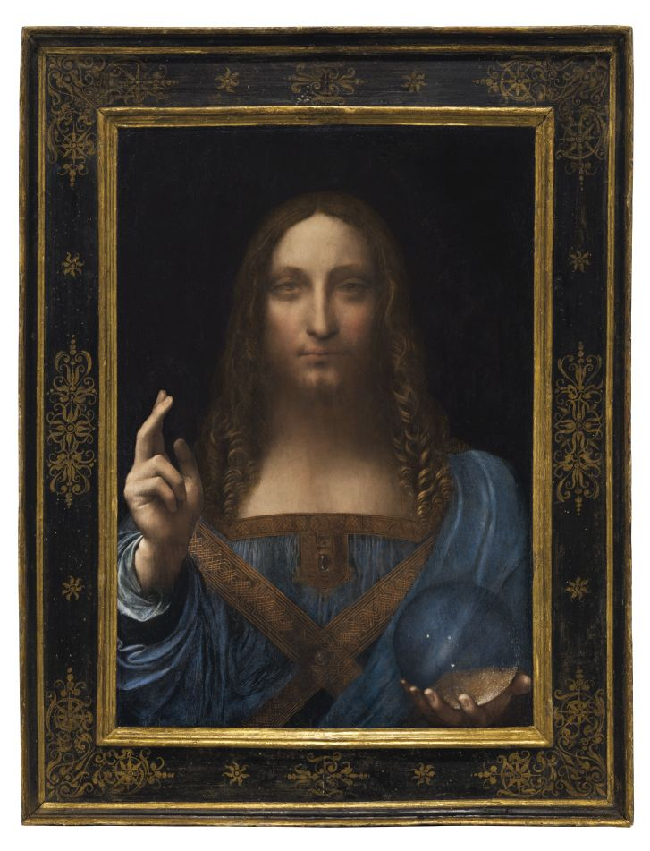 """""""Salvator Mundi"""" (""""Savior of the World"""") is one of fewer than 20 known paintings by da Vinci.Credit:CHRISTIE'S"""