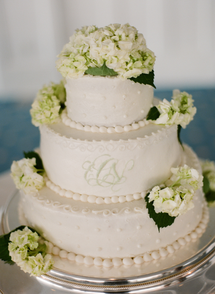 Beautiful Wedding Cake by The Cake Lady in Westport CT @ Belle Haven Club in Greenwich, CT