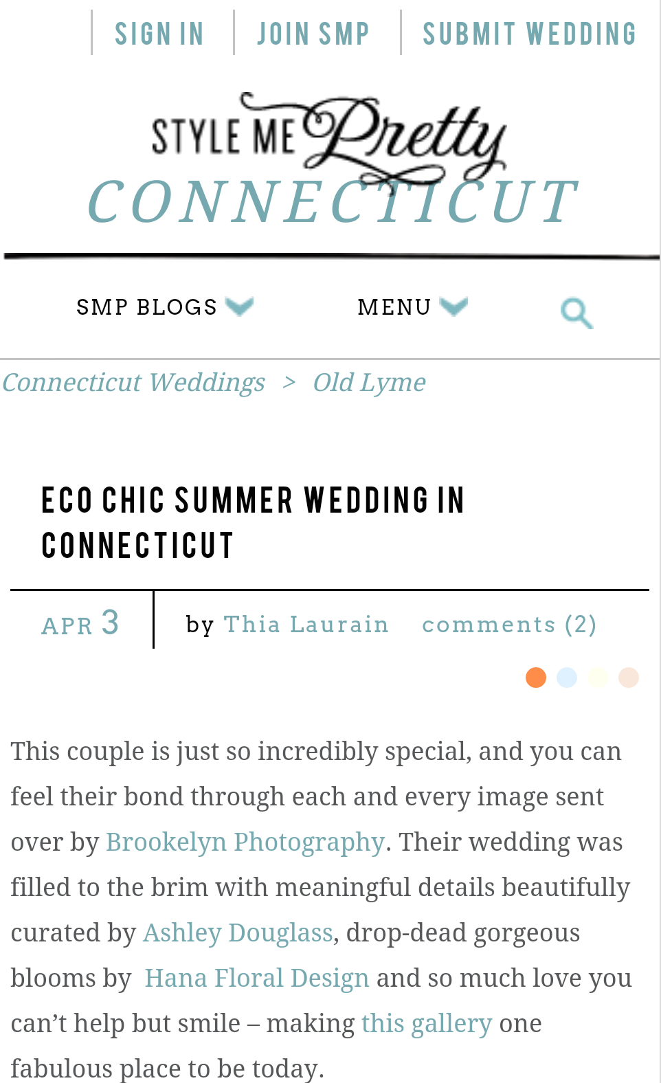 Ashley Douglass Events on Style Me Pretty, CT and NYC Wedding Planner