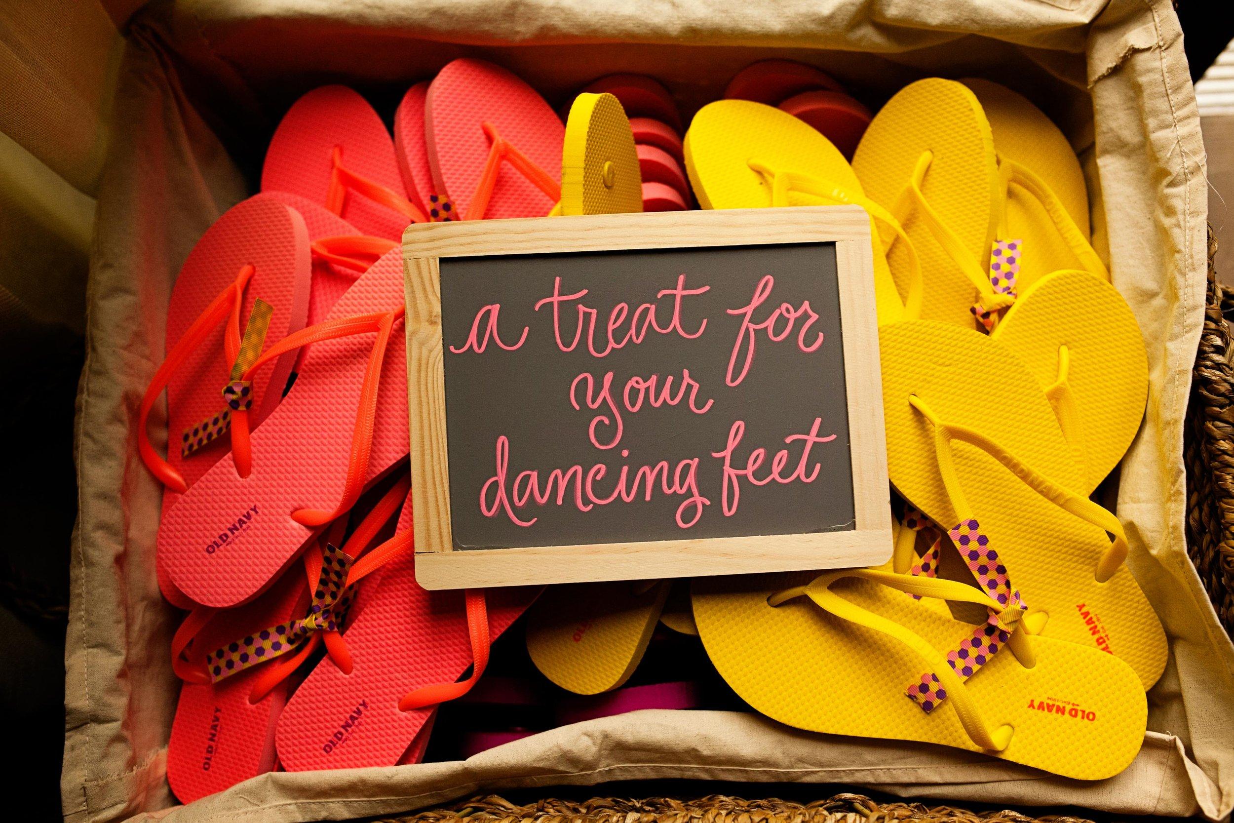 Flip flops for the dancing feet! Bruce Plotkin Photography.