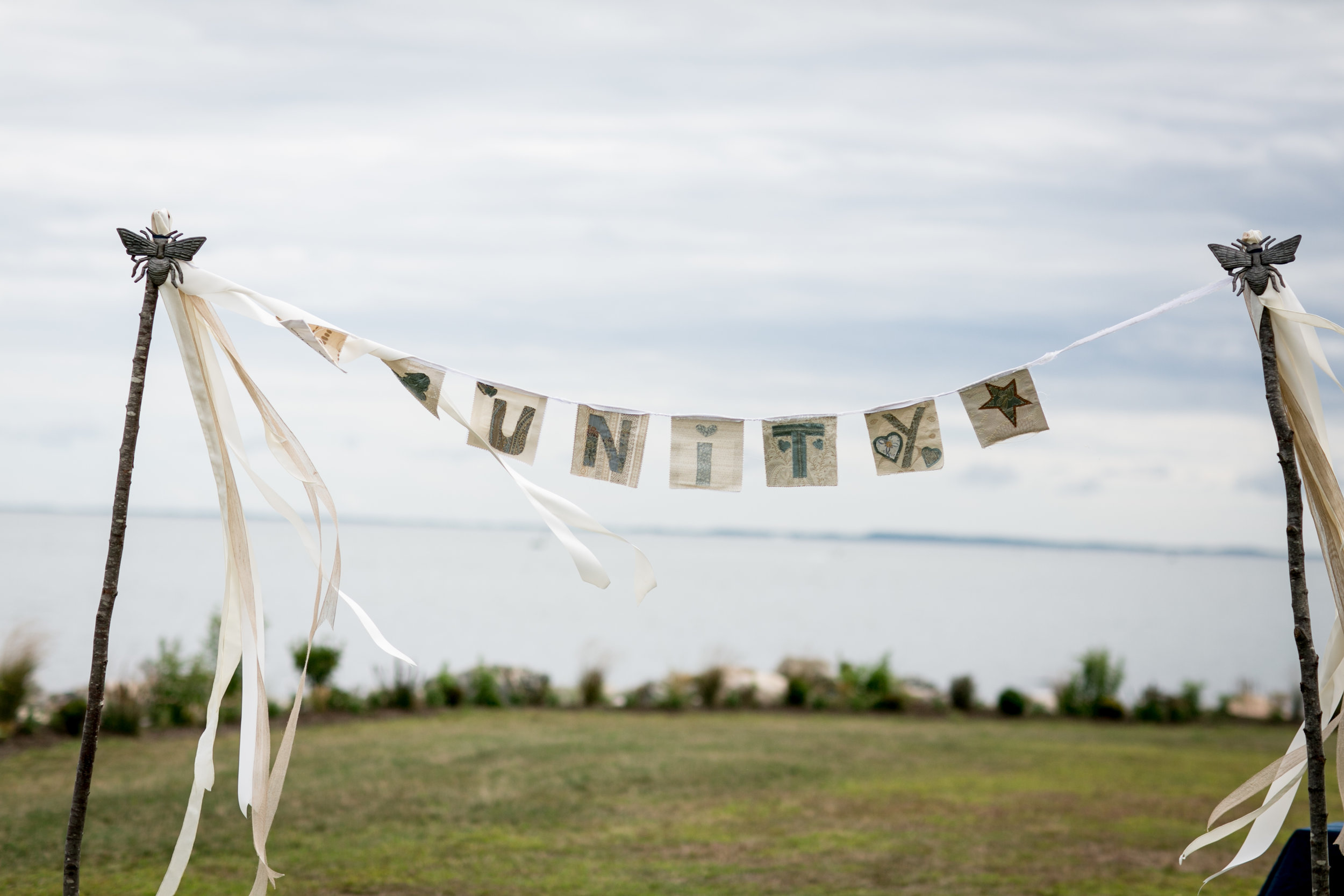 Ceremony Welcome Brookelyn Photography with Ashley Douglass Events in Old Lyme CT Shoreline Wedding.